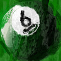 Number Six Billiards Ball Abstract by David G Paul
