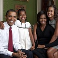 Obama Family Official Portrait By Annie by Everett