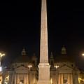 Obelisco Flaminio And Twin Churches By Night by Fabrizio Ruggeri