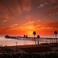 Oceanside Sunset 9 by Larry Marshall