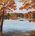 October Morn At Walden Pond by Jack Skinner