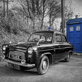 Old British Police Car And Tardis by Yhun Suarez