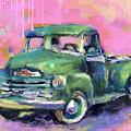 Old Chevy Chevrolet Pickup Truck On A Street by Svetlana Novikova