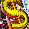 Old Dollar Sign by Garry Gay