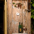 Old Door And Wine by Sally Weigand