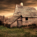 Old English Barn by Lourry Legarde