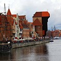 Old Gdansk Port Poland Print by Sophie Vigneault