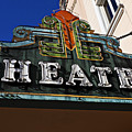 Old Movie Theatre Sign by Garry Gay