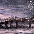 Old North Bridge In Winter by Jack Skinner