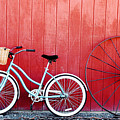 Old Red Barn And Bicycle by Margaret Hood