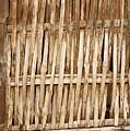 Old Wall Made From Bamboo Slats by Yali Shi