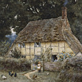 On The Brook Road Near Witley by Helen Allingham