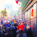 On The Day Before Christmas . Stockton Street San Francisco . Photo Artwork by Wingsdomain Art and Photography