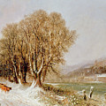 On The River Neckar Near Heidelberg by Joseph Paul Pettit