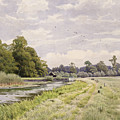 On The River Ouse Hemingford Grey by William Fraser Garden
