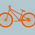 Orange Bicycle  by Naxart Studio