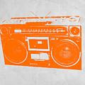 Orange Boombox by Naxart Studio