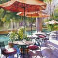 Orange Umbrellas by Sue Zimmermann