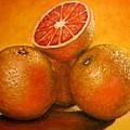 Oranges  Original Oil Painting by Natalja Picugina