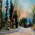 Ormstown Quebec Winter Road by Carole Spandau