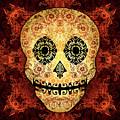 Ornate Floral Sugar Skull by Tammy Wetzel
