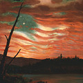 Our Banner In The Sky by Frederic Edwin Church