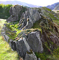 Outcrop In Snowdonia by Harry Robertson