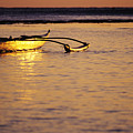 Outrigger And Sunset by Joss - Printscapes