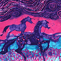 Painted Horses Below The Wind by Carol  Law Conklin
