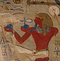 Painted Relief Of Thutmosis IIi by Kenneth Garrett