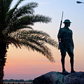 Palatka Memorial Bridge Doughboy At Sunset by Angie Bechanan