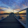 Palm Beach Wharf At Dusk by Avalon Fine Art Photography