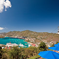 Paradise Point View Of Charlotte Amalie Saint Thomas Us Virgin Islands by George Oze