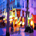 Paris Quartier Latin 02 Print by Yuriy  Shevchuk