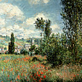 Path Through The Poppies by Claude Monet