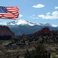 Patriotism At Pikes Peak by Diane Wallace