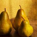 Pear Trio Print by Rebecca Cozart