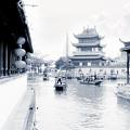 Pearl Stream River Blues - Zhujiajiao Near Shanghai by Christine Till