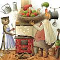 Pearman And Cat by Kestutis Kasparavicius
