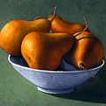 Pears in Blue Bowl Print by Frank Wilson