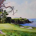 Pebble Beach Gc 5th Hole by Scott Mulholland