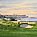 Pebble Beach Golf Course by Bill Holkham
