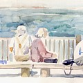 People On Benches by Linda Berkowitz