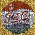 Pepsi Bottle Cap Mosaic by Paul Van Scott