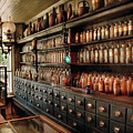 Pharmacy - So Many Drawers And Bottles by Mike Savad