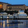 Philadelphia Art Museum And Fairmount Water Works by Gary Whitton