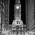 Philadelphia City Hall At Night by Val Black Russian Tourchin