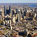 Philadelphia Skyline Aerial Graduate Hospital Rittenhouse Square Cityscape by Duncan Pearson