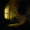 Philosopher In Meditation by Rembrandt