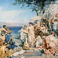 Phryne At The Festival Of Poseidon In Eleusin by Henryk Siemieradzki